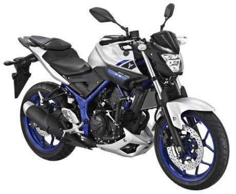 yamaha MT-25 Silver blue pertamax7.com