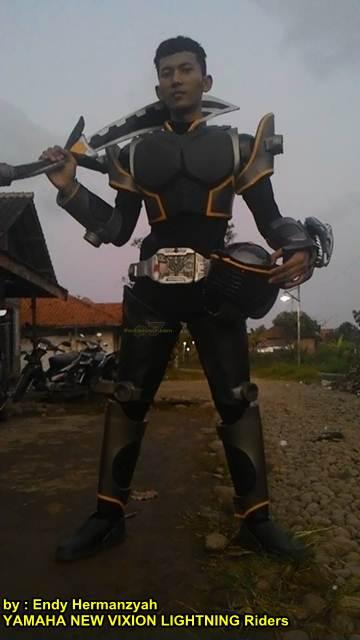 Ada Kamen Rider Onyx Naik Yamaha New Vixion Lightning Asal Pekalongan  Unik 01 pertamax7.com