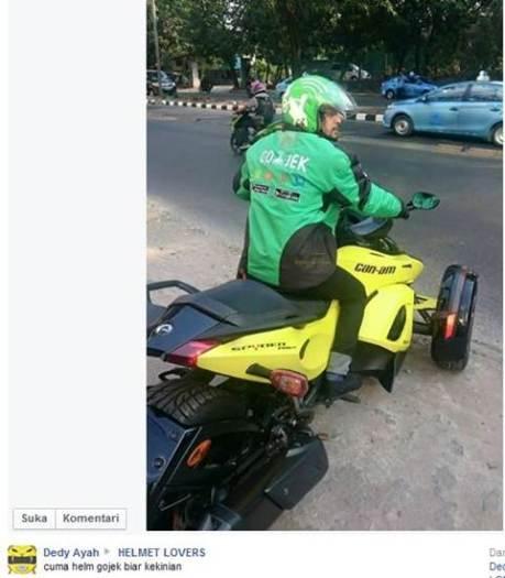Bos Gojek Naik Motor Roda 3 Spyder Harga Ratusan Juta, Trik Marketing yang Jitu