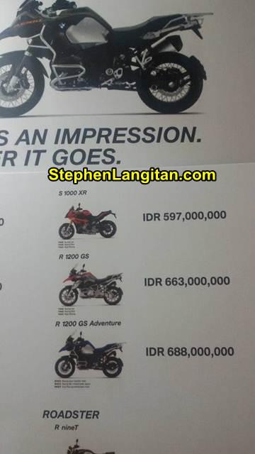 harga moge BMW Indonesia