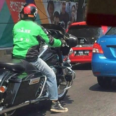 Heboh Mogeh Harley Davidson jadi Armada Ojek Go-Jek, trik Marketing kah  pertamax7.com