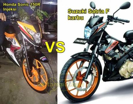 honda sonic 150R vs suzuki satria F