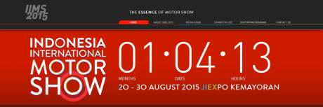 Indonesia International Motor Show 20-30 August 2015