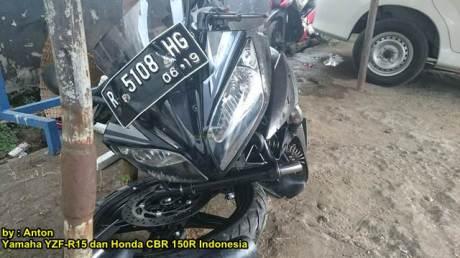 Kecelakaan Yamaha r15 Shock Patah di  Purwokerto 01 pertamax7.com
