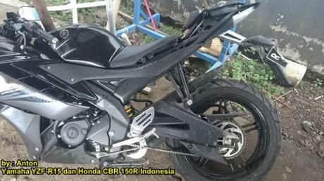 Kecelakaan Yamaha r15 Shock Patah di  Purwokerto 03 pertamax7.com
