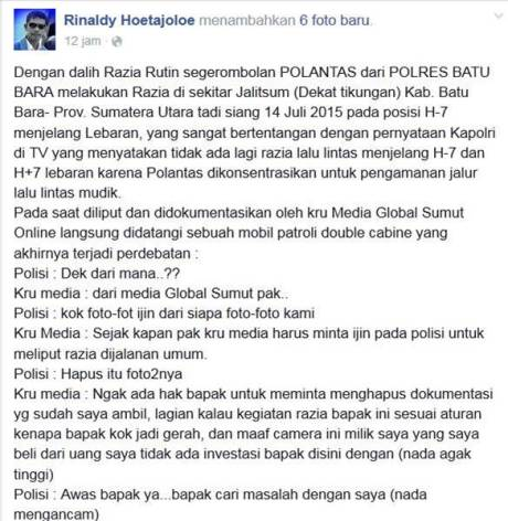 Kena Foto Wartawan, Razia Lalu Lintas Polisi Jelang Lebaran di Sumatera Utara Ini bubar jalan 00 pertamax7.com