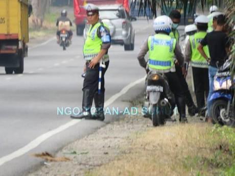 Kena Foto Wartawan, Razia Lalu Lintas Polisi Jelang Lebaran di Sumatera Utara Ini bubar jalan 02 pertamax7.com