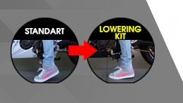 Lowering-Kit-yamaha R15 biar makin pendek kaki sampai tanah