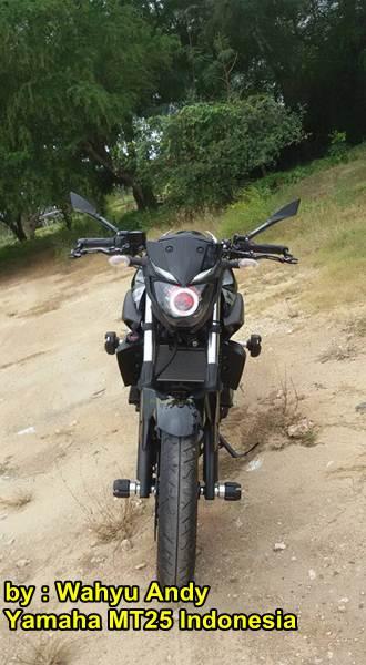 Modifikasi Yamaha MT-25 Hitam dengan HID Projector ini nampak Garang Habis Rp.13 juta 00 pertamax7.com
