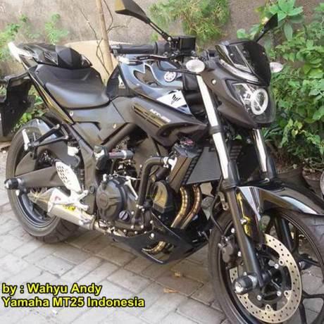 Modifikasi Yamaha MT-25 Hitam dengan HID Projector ini nampak Garang Habis Rp.13 juta 03 pertamax7.com