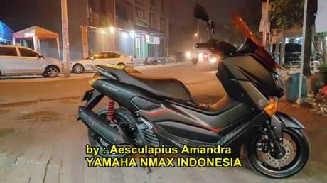 Modifikasi Yamaha NMAX hitam doff kekar menawan 01 pertamax7.com