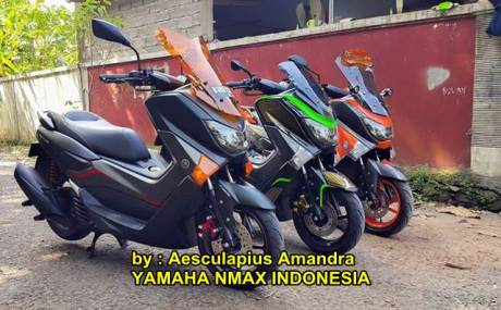 Modifikasi Yamaha NMAX hitam doff kekar menawan 03 pertamax7.com