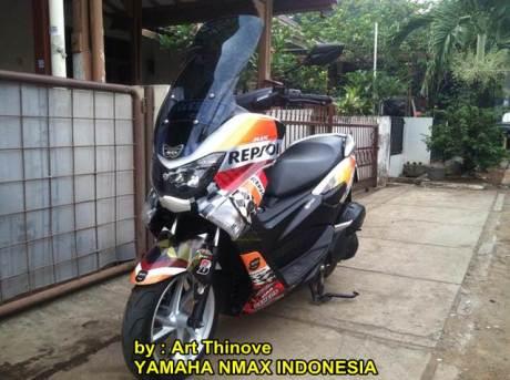 Modifikasi Yamaha Nmax Livery Repsol Jakarta max Owner 2802 pertamax7.com