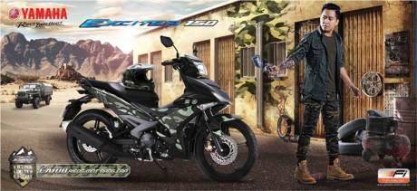 pamflet Yamaha Jupiter MX king doreng tentara exciter 150 camo