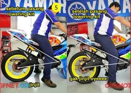 Pasang Lowering Kit Yamaha R15 bikin Nggak Jinjit dan tidak Begitu Nungging Lagi  pertamax7.com 1