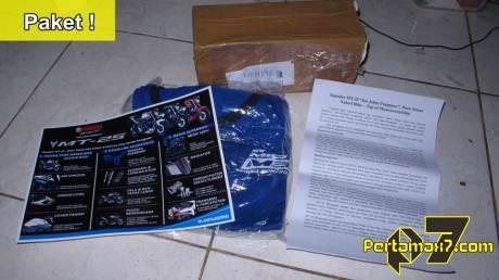 pertamax7.com dapat paket dari surabaya berisi brosur yamaha MT-25 a