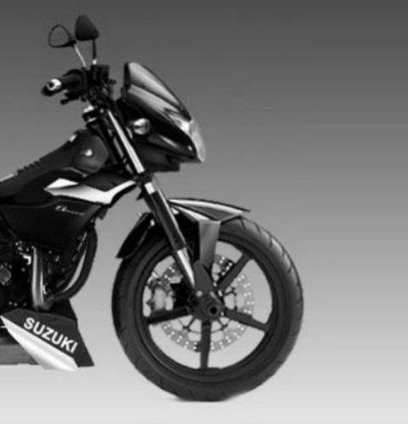 Sketsa All New Suzuki Satria F injeksi Liquid Cooler, power 18,3 HP lampu depan seperti Bajaj Pulsar lama pertamax7.com