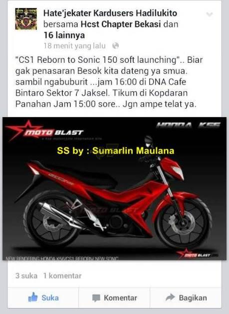 soft launching honda sonic 150R kepada komunitas honda CS1 pertamax7.com 1