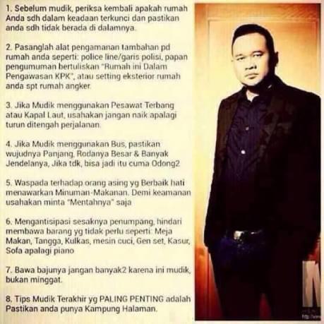 Tips Mudik ala cak Lontong Pertamax7.com