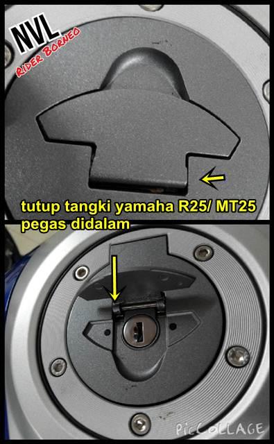 tutup tangki yamaha R25 lebih kuat dari Yamaha New Vixion lightning