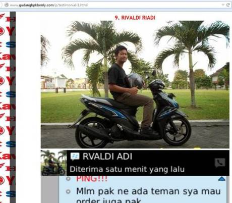 Waspada foto Pertamax7.com dan blogger lain di catut website jual motor tanpa STNK 07 pertamax7.com