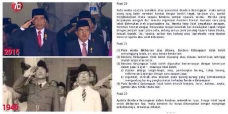 alasan mengapa Wakil Presiden Jusuf Kalla Tidak Hormat Bendara Saat Upacara di Istana Negara