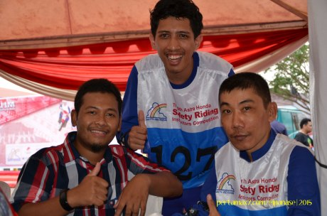 Astra Honda Safety Riding Instructor Competition 2015 di Palembang Hari Ketiga Uji Rem dan Keseimbangan 05 Pertamax7.com