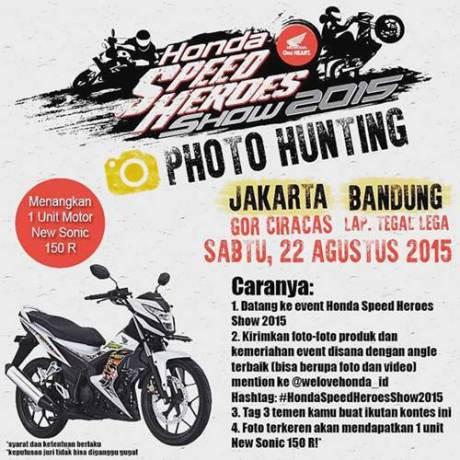 AYo Nonton Grand Launching All New honda CB150R dan new SOnic di Jakarta dan Bandung 22 Agustus 2015 bertabur hadiah pertamax7.com