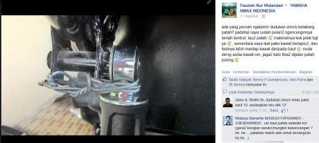 Baut Dudukan Shock Breaker Belakang Yamaha Nmax Patah Lantas di ikat Kawat Bikin Batal Testride pertamax7.com