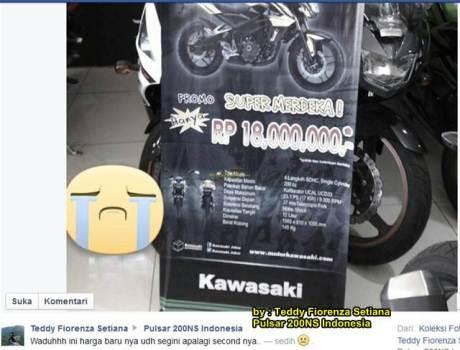 DIler Kawasaki Bandung ini Jual bajaj pulsar 200S Rp.18 juta saja 00 pertamax7.com