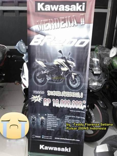 DIler Kawasaki Bandung ini Jual bajaj pulsar 200S Rp.18 juta saja 01 pertamax7.com