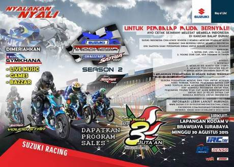 Diskon Suzuki Satria F Rp.3 Jutaan di ajang Suzuki Indonesia Challenge pertamax7.com