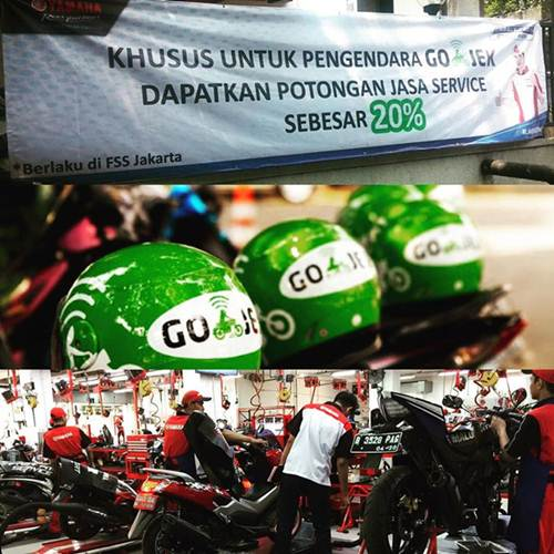Dukung Ide Kreatif, Yamaha Flag Ship Shop Cempaka Putih Jakarta beri Diskon 20 % bagi Armada Gojek pertamax7.com