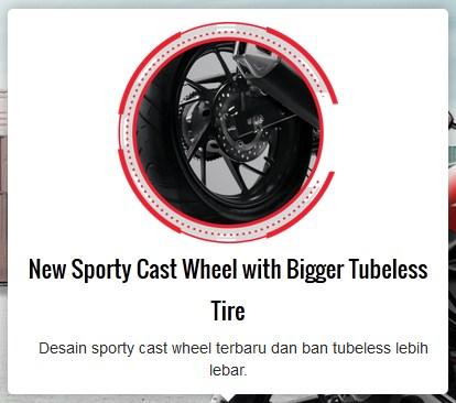 fitur new honda CB150R facelift 2015 ban belakang lebar pertamax7.com