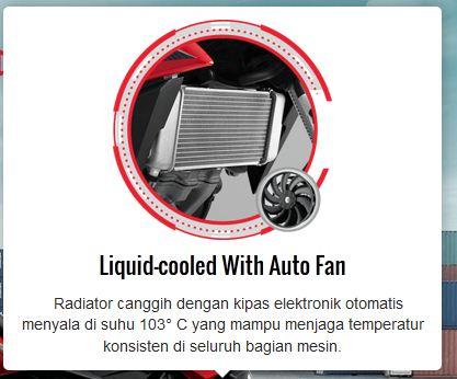 fitur new honda CB150R facelift 2015 radiator dengan kipas pertamax7.com