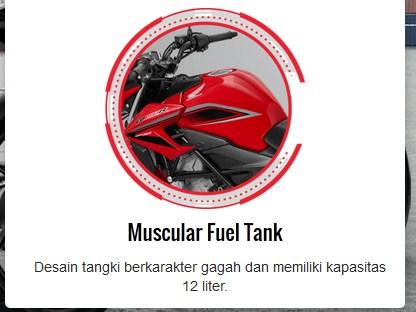 fitur new honda CB150R facelift 2015 tangki bensin pertamax7.com