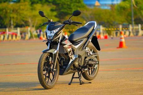 Foto testride all new Honda Cb150R dan New honda Sonic 150R 03 Pertamax7.com