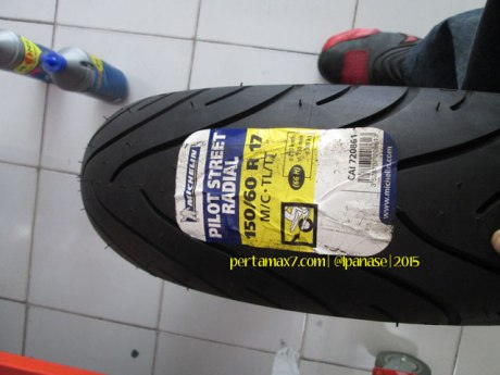 Ganti Ban Michelin Pilot Street Radial buat Yamaha New Vixion di Mitra Ban Solo 01 Pertamax7.com