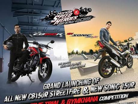 Grand Lauching All new Honda CB150R dan new Sonic 150R di 8 Kota besar, Catet Om pertamax7.com