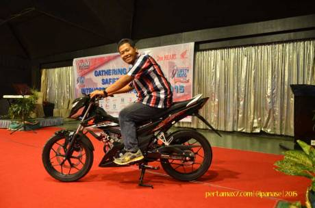 honda sonic di press conference astra honda safety riding instructor competition 2015 pertamax7.com