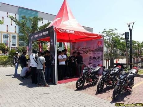 Intip suasana Grand Launching All New Honda CB150R dan New Sonic 150R di Solo Baru Jateng 03 pertamax7.com