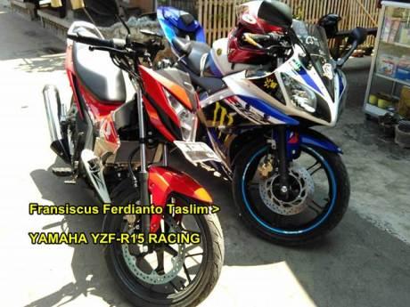 Kala Rider Yamaha R15 Testride New Honda Sonic 150R Enteng Tembus 141 KPH Akselerasi Galak