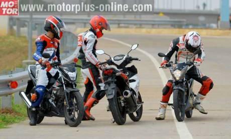 kompasi Suzuki Satria F VS Yamaha Jupiter MX King VS New Honda Sonic 150R pertamax7.com