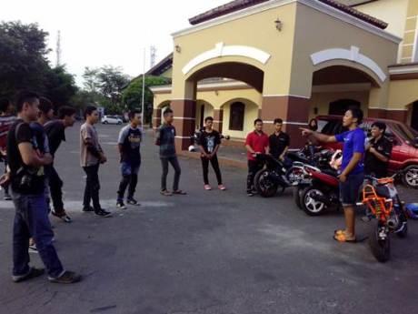 Latihan freestyle di Wawan Tembong Training School di Salatiga Jawa Tengah (2)