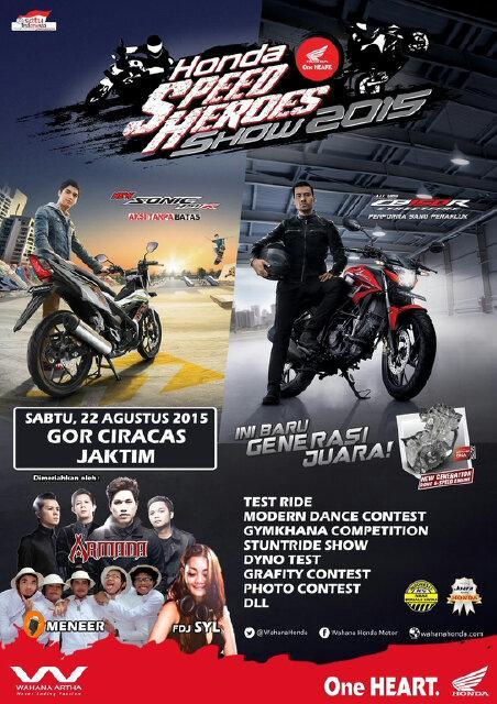 Launching All new Honda CB150R dan New Sonic 150R 22 Agustus 2015 di Gor Ciracas Jaktim pertamax7.com