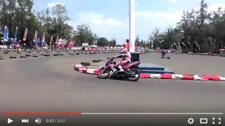 Launching New Honda Sonic 150R di Banjarbaru ini Pakai Konsep Balap OMR pertamax7.com