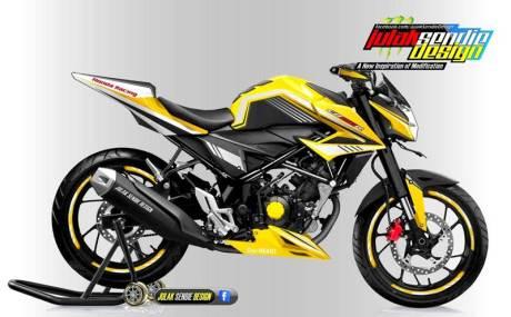 Modifikasi All new Honda New CB150R Facelift Julak sendie kuning hitam 00  pertamax7.com