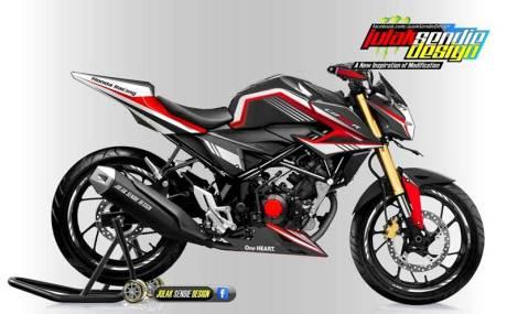 Modifikasi All new Honda New CB150R Facelift Julak sendie merah hitam 03 pertamax7.com