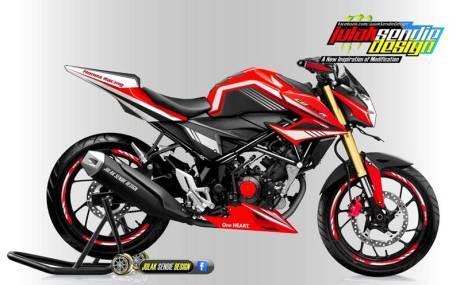 Modifikasi All new Honda New CB150R Facelift Julak sendie merah hitam01 pertamax7.com