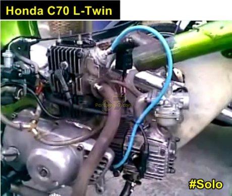 modifikasi honda C70 L-twin Solo pertamax7.com
